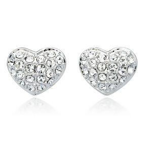 Gorgeous Genuine Swarovski Crystal Heart Earrings!